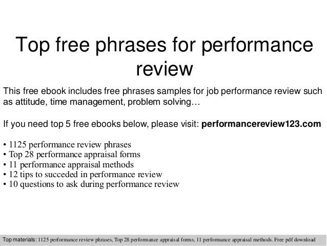 PERFORMANCE REVIEW Quotes Like Success