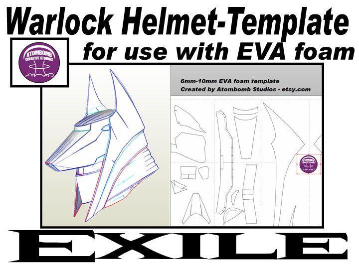 Warlock Helmet 'Exile'. Template for EVA foam .pdf