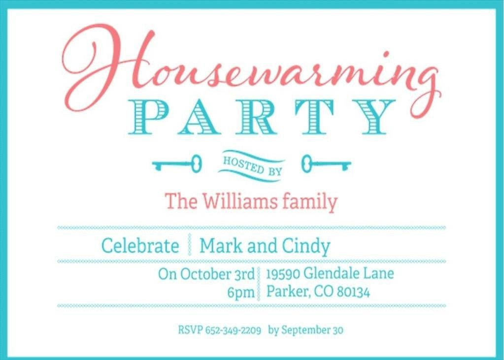 Housewarming Party Invitations | Card Invitation Templates