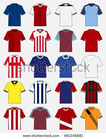 Set Soccer Kit Football Jersey Template Stock Vector 618211082 ...