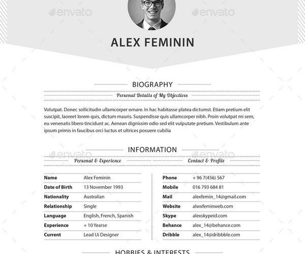 10+ High School Resume Templates - Free PDF, WORD, PSD