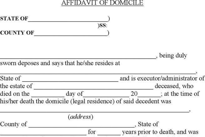 Affidavit Form | Download Free & Premium Templates, Forms ...