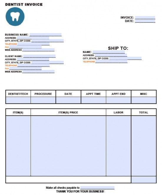 Occupyhistoryus Mesmerizing Free Dental Invoice Template Excel Pdf ...