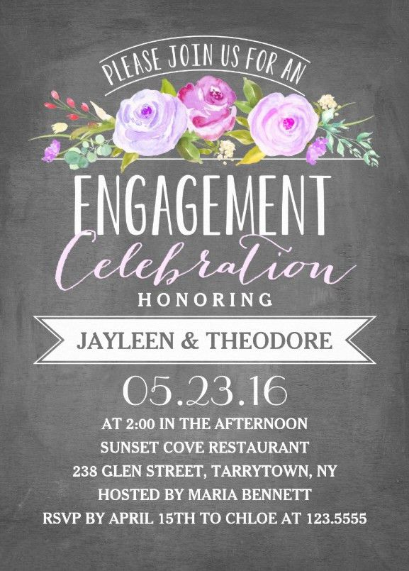 Engagement chalkboard invitation template - Perfect for you!