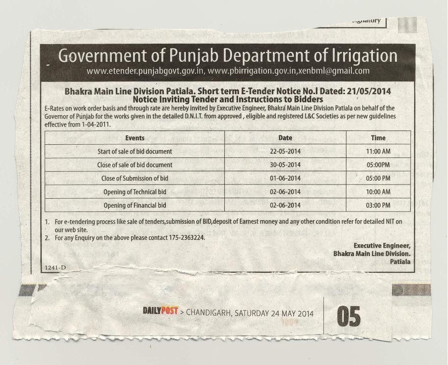 Department of Irrigation, Government of Punjab, India
