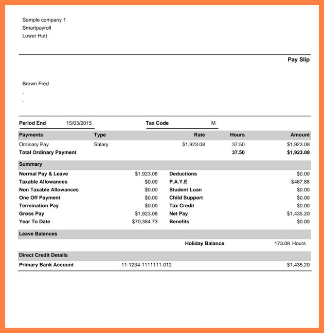 Doc.#529737: Payslip Sample Format U2013 Payslip Format Word And Excel .  Payslip Template Word Document