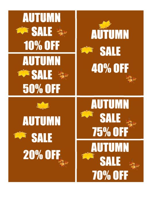 Top 5 Fall Sale Sign Templates free to download in PDF, Word and ...