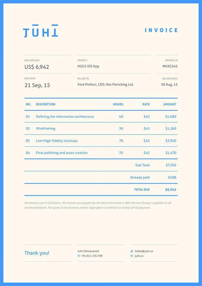 30 best Invoice / receipt images on Pinterest | Invoice design ...