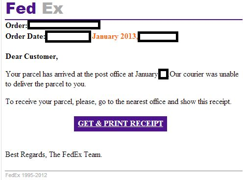 Fake FedEx 'Tracking ID/Tracking Number/Tracking Detail' themed ...