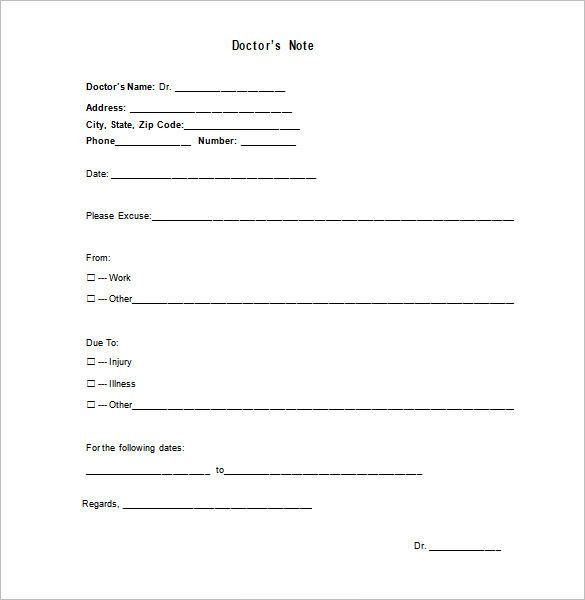 Doctor Excuse Template – 9+ Free Sample, Example, Format Download ...