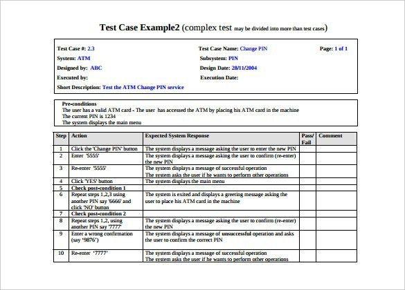 Test Case Template | ossaba.com