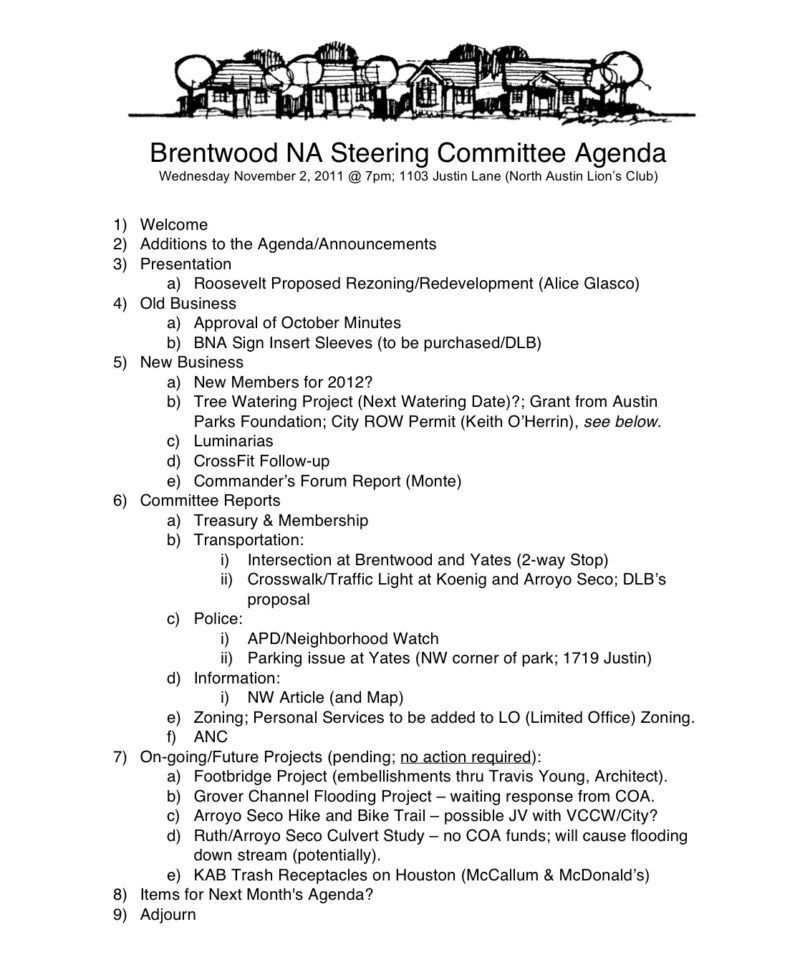 Committee Meeting Agenda Template. sample agenda temp ...
