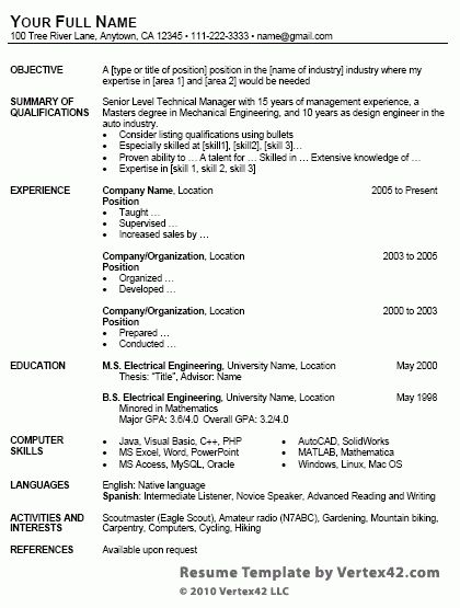 8 Online Professional Resume Templates for Free | Writing Resume ...