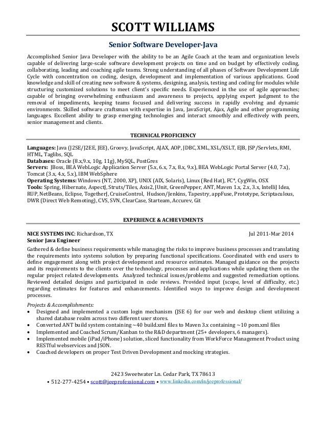 java developer resume example. java sample resume 8 best images ...