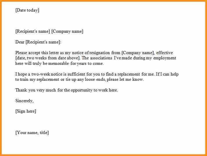 6+ two weeks notice sample | cook resume