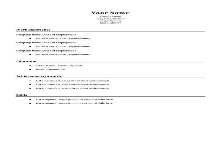 A Simple Resume. download basic resume sample. 10 how to write a ...
