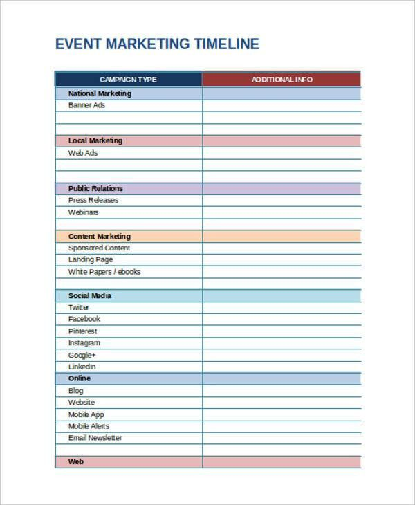 Marketing Timeline Templates - 4+ Free Word, PDF Excel Format ...