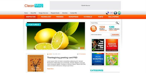 10 Free PSD Web Templates Ready for PSD to WordPress Conversion ...