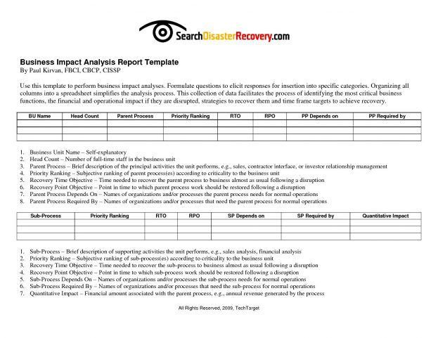 Business Report Template 2016 All About Impact Analysis ...