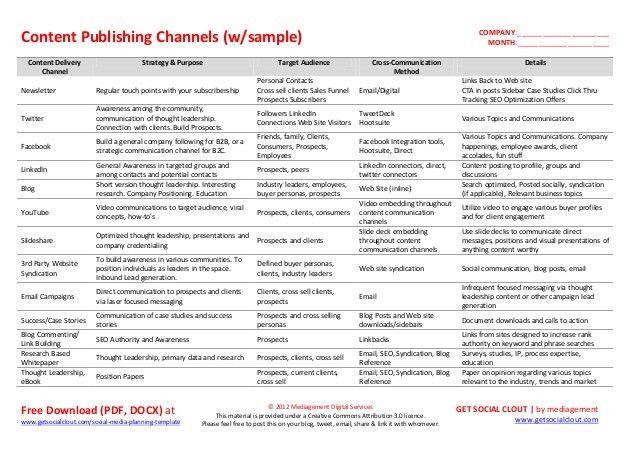media planning templates