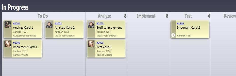 Project task and team management board based on lean and agile ...