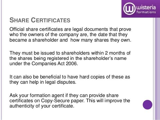 Limited Company Documents