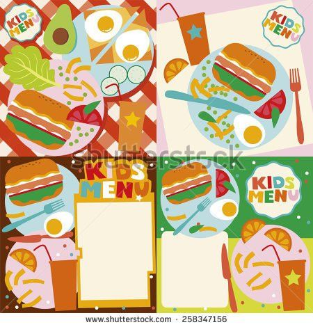 Kids Menu City Style Stock Vector 179770307 - Shutterstock