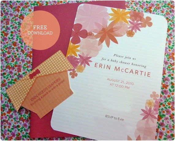 Free Download: Baby Shower Invitation |