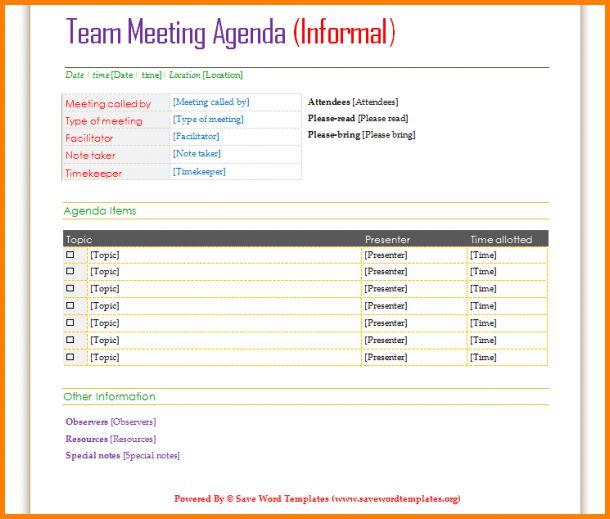Business Meeting Agendas.A Professional Meeting Agenda Template ...