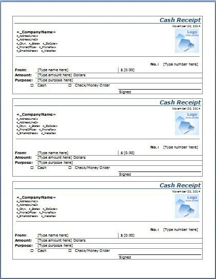 Word Printable Official Receipt Template [19 KB DOC] – Excel ...