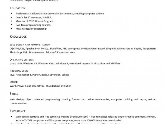 100+ [ Resume Open Office ] | Professional Resume For Office ...