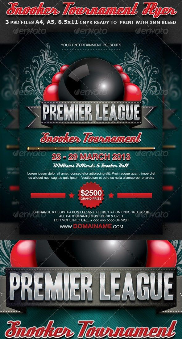 Snooker Flyer Template by Hotpin | GraphicRiver