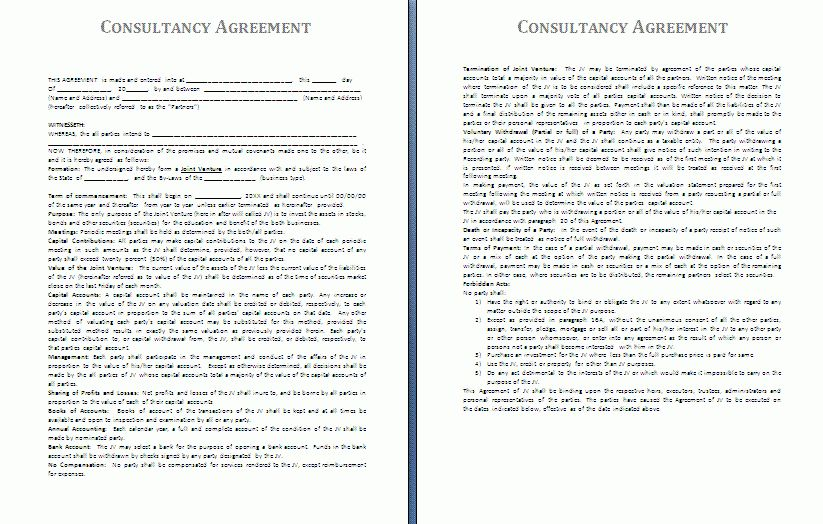 Consulting Contract Template Free 5 Consulting Contract Templates – Independent Consulting Agreement