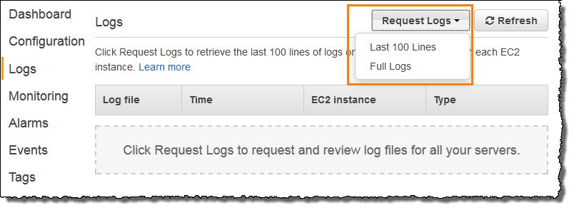Viewing Logs from Your Elastic Beanstalk Environment's Amazon EC2 ...