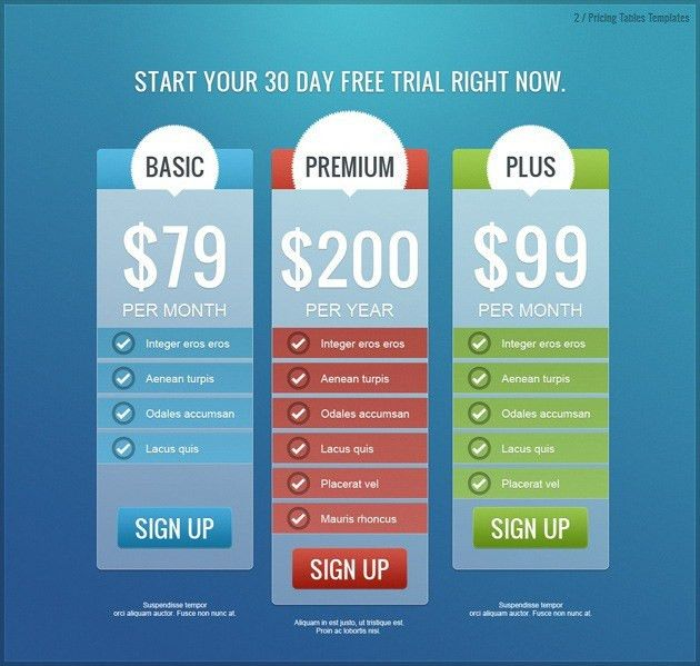 Awesome Design Price List Template Photo Gallery