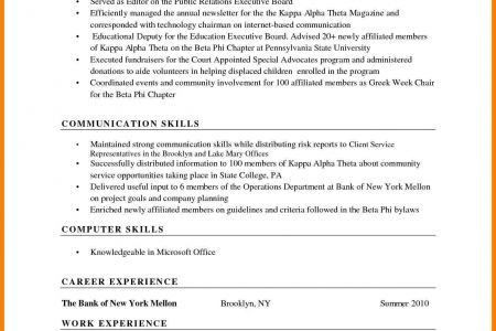 Sections Of A Skill Based Resume - Reentrycorps