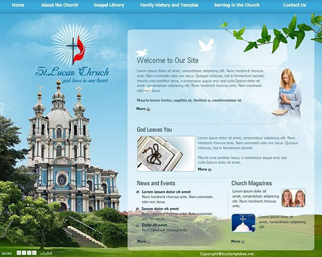 Religious church website templates