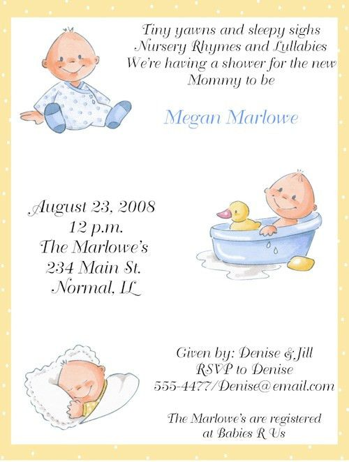 Baby Shower Invitation Messages | almsignatureevents.com