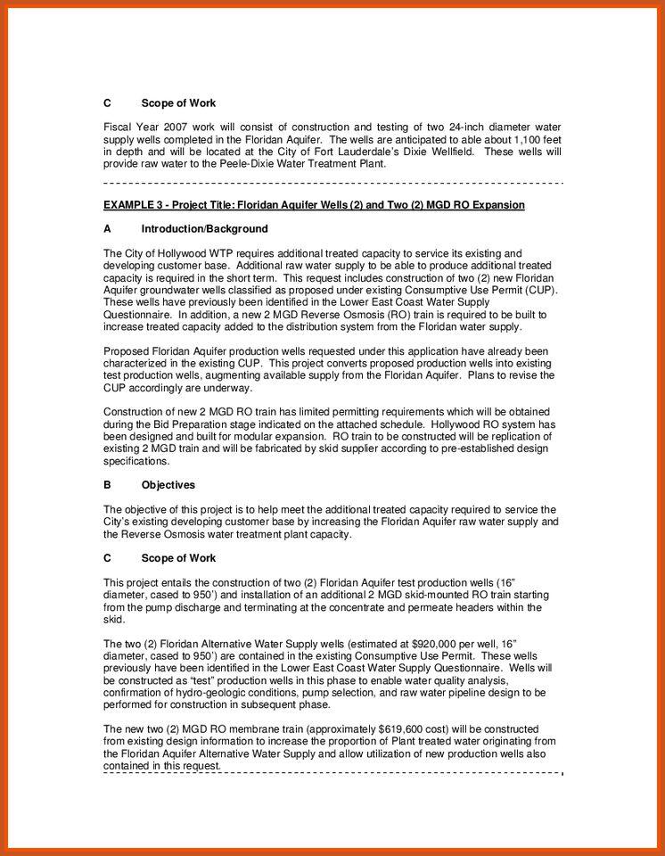 statement of work example | sop example