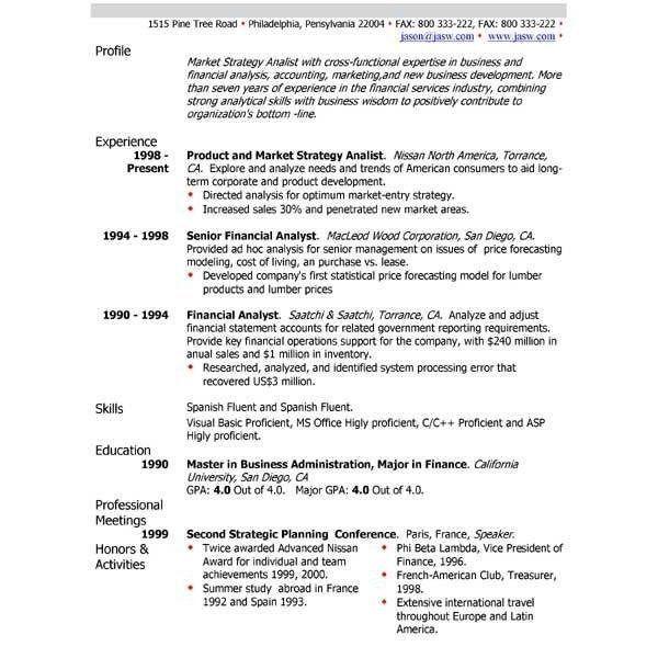 Resume Profile Examples Stewieshow Resume Profile Examples ...