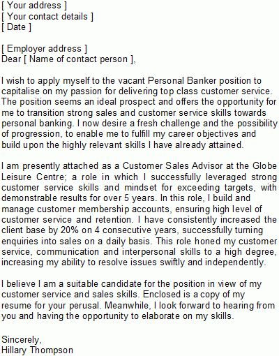 Career Change Covering Letter Sample