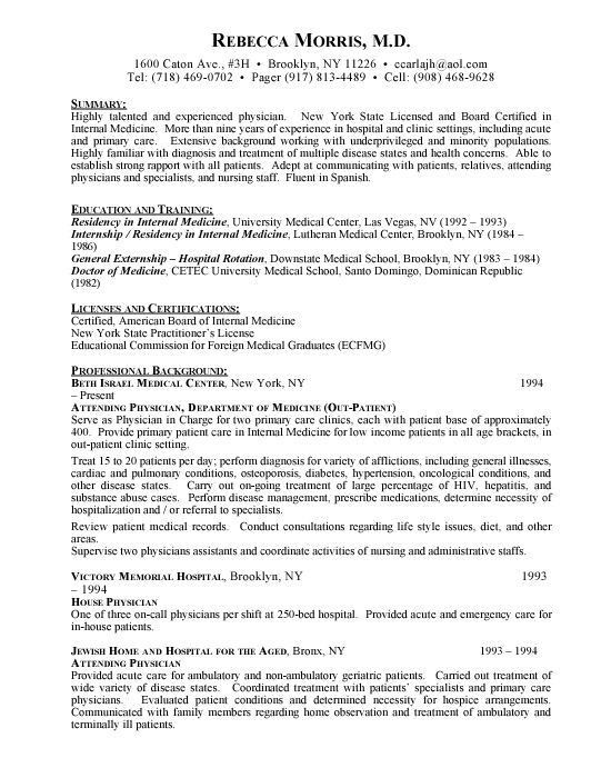 Physician Cv Template Physician Assistant Resume Sandeshbhat ...