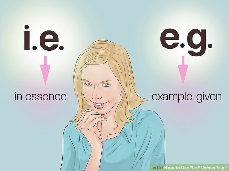 """How to Use """"i.e."""" Versus """"e.g."""" (with Cheat Sheet) - wikiHow"""