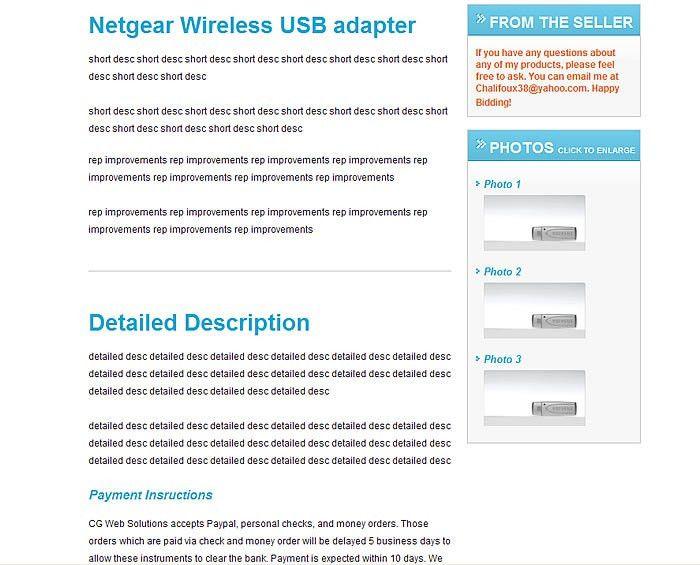 Professional Free eBay Template Builder - www.ebaytemplates.com