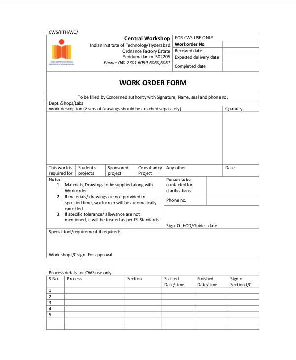 Order Form Template - 11+ Free Word, PDF Documents Download | Free ...