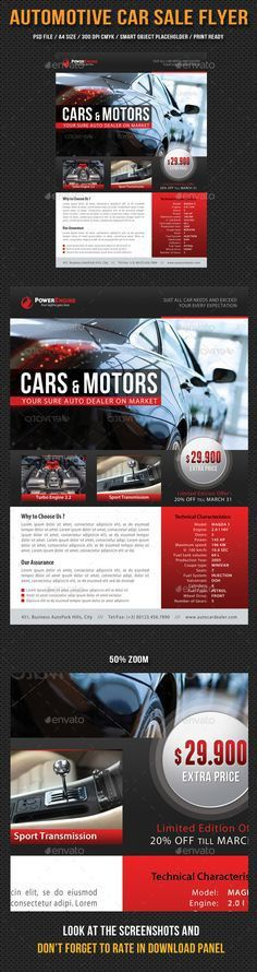 Exclusive Car Rental Flyer Template. Flyer Templates. $8.00 ...