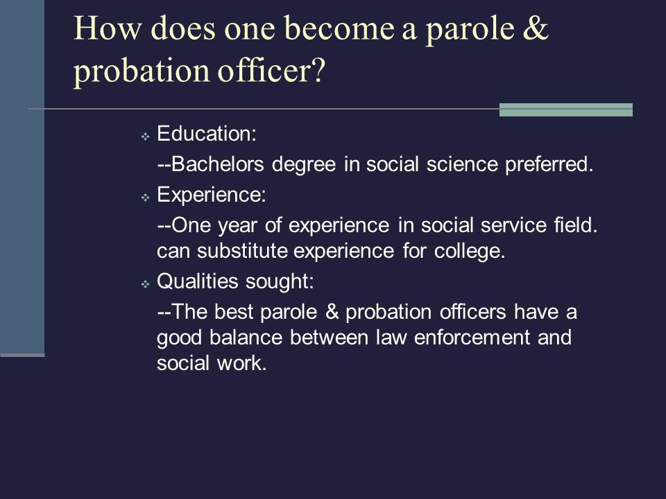 County College Parole & Probation Services - ppt download