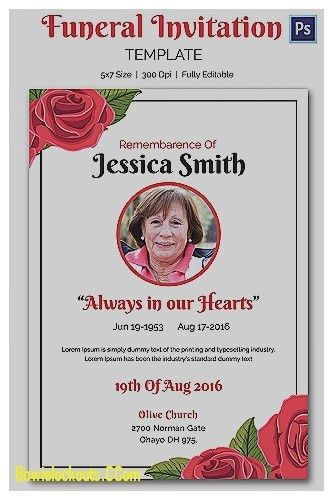 Free Funeral Invitation Template. memorial service funeral ...