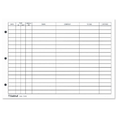 Guildhall Refill for Loose-leaf Visitors Book 50 Sheets A4 Ref T40 ...