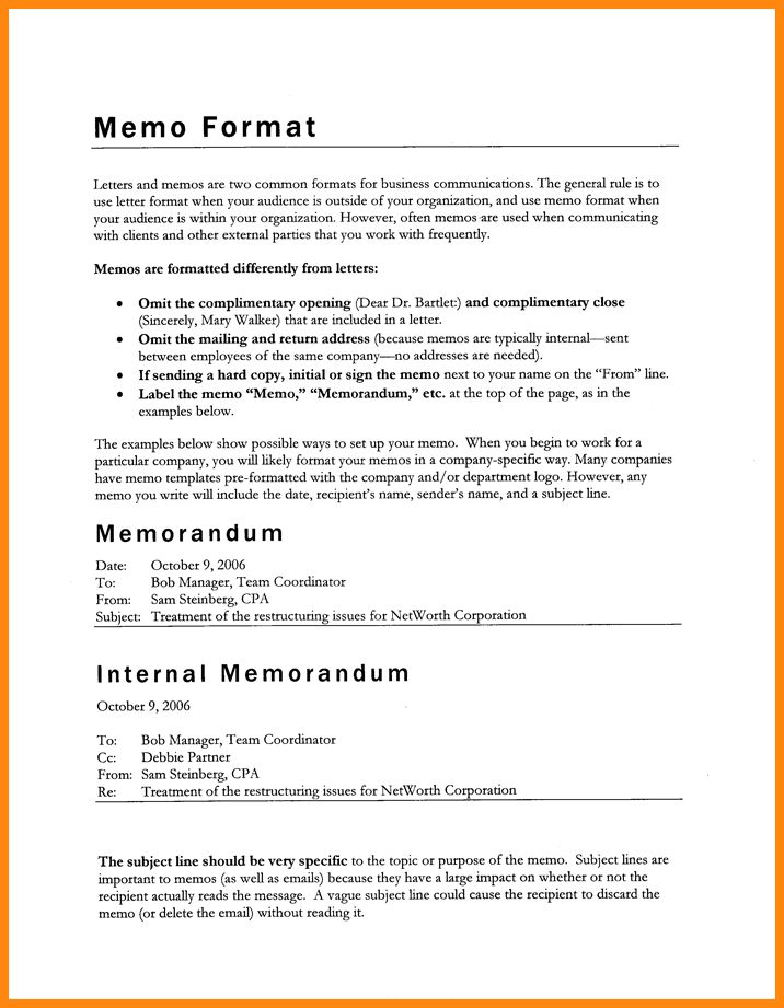 8+ internal memorandum example | model resumed